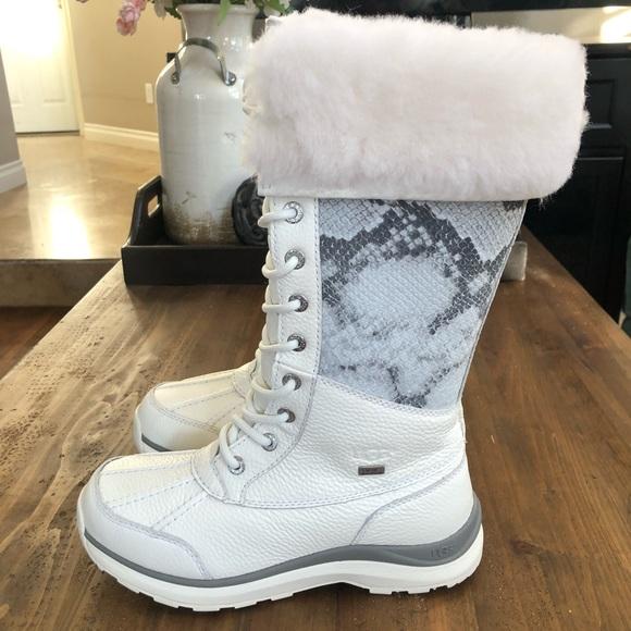 11eaaf694 🎁UGG Adirondack Tall III Snake White Boots NWT